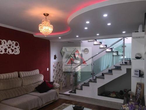 Sobrado Com 3 Dormitórios À Venda, 263 M² Por R$ 950.000,00 - Moinho Velho - São Paulo/sp - So4680