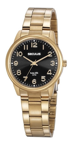 Relógio Feminino Seculus 20863lpsvda2 Dourado