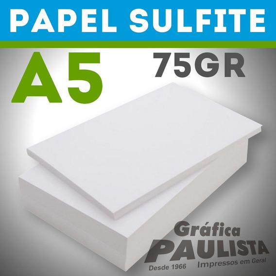 Papel Sulfite Branco Offset A5 75gr 3000 Folhas