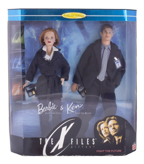 Bonecos Barbie E Ken Collector The X-files Giftset - Mattel