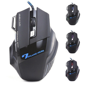 Mouse Gamer Led Hz X7 Óptico 3200dpi Pc 7 Botões