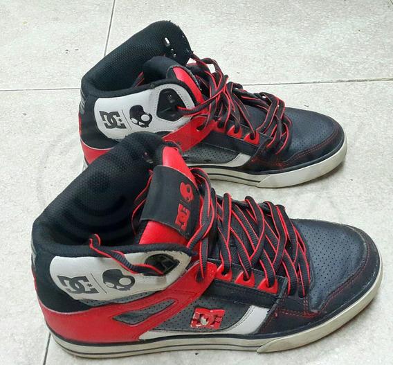Dc Skater Shoes Bota Alta Rojo Edicion Especial Original T41