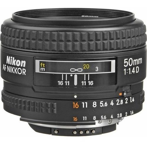 Lente Nikon Autofoco Af 50mm F/1.4d - Lj. Platinum