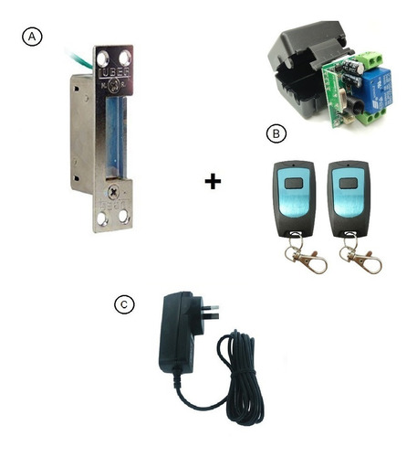 Kit Acceso Cerradura Eléctrica Luber 1500 + Control Remoto
