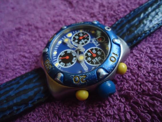 Time Force Reloj Vintage Retro Con Cronometro Para Dama