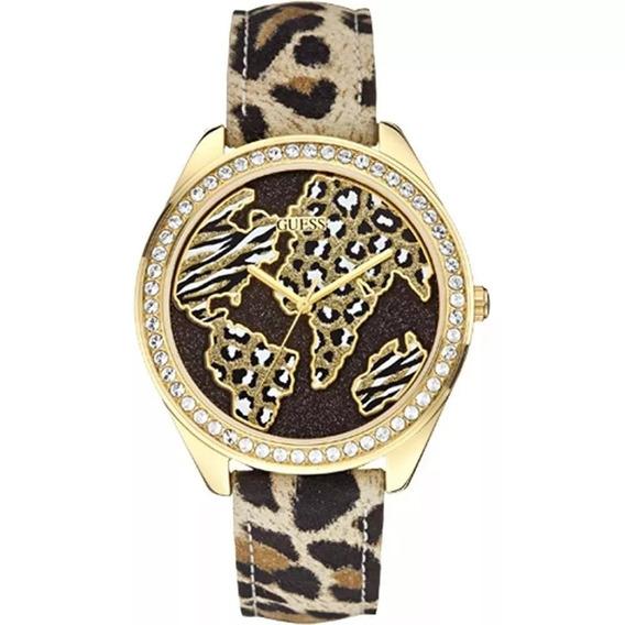 Relógio Guess Safari Dourado Marrom 92545lpgtdc2