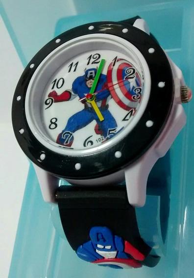 Relógio Avengers Os Vingadores Marvel Capitão América