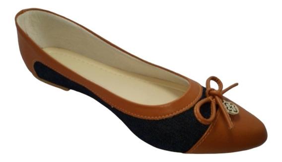 Sapatilha Feminina Bico Fino Confort Adulto Sapato