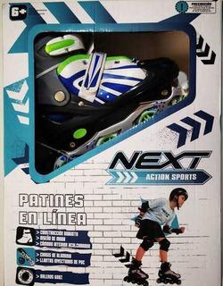 Patines En Línea Next Action Sports Color Azul