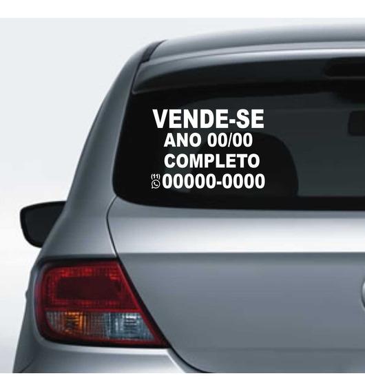 Adesivo De Vende-se Carro 30x21cm Aplicar No Vidro Do Carro