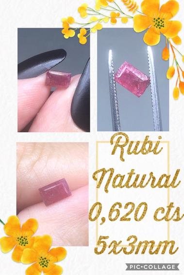 Rubi Retangular Natural 0 620 Cts 5x3 Mm Uaua Bahia