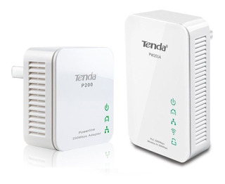 Combo De Extensor Wifi Powerline N300 Pw201a + P200 Tenda
