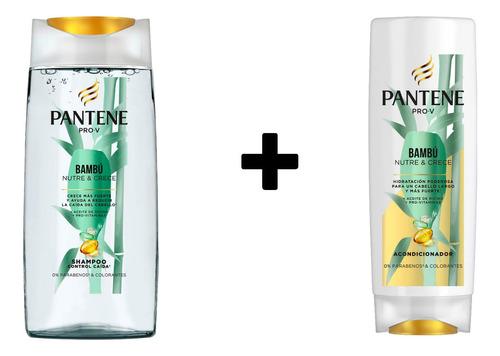 Combo Shampoo Y Acondicionador Pantene Pro-v Bambú Nutre & C
