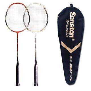 Kit Peteca Badminton 2 Raquetes + Bolsa + 2 Petecas
