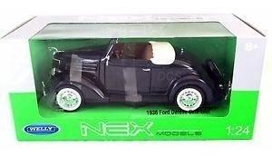 Welly Nex Autos Escala 1/24 1936 Ford Delux Cabriole 24229