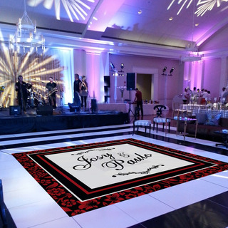 Pista De Dança Para Casamento Preto Com Vinho Ps11 - 5x5m