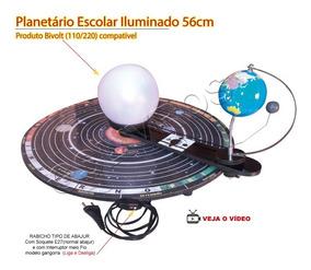 Planetário Escolar Iluminado 110 Ou 220 Volts + Atlas