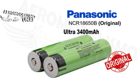 2x Bateria Panasonic Ncr18650b Original 3,7v 3400mah 18650