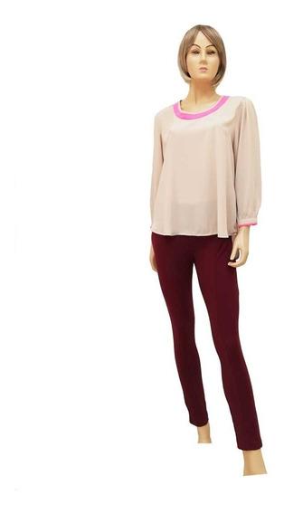 Blusa Elegante En Una Combinación Colores Genial Super Cool