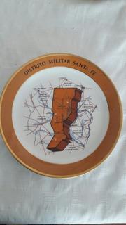 Plato De Porcelana Distrito Militar Santa Fe