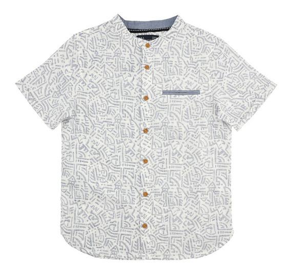 Camisa Cuello Mao Estampada De Niños C&a 1047993