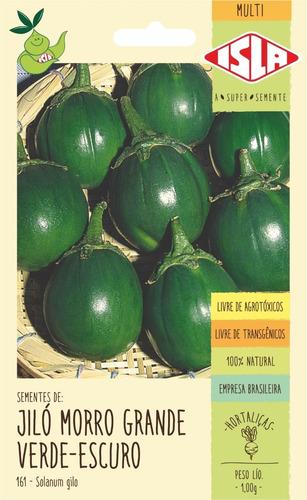 Sementes De Giló Morro Grande Verde-escuro      460 Sementes