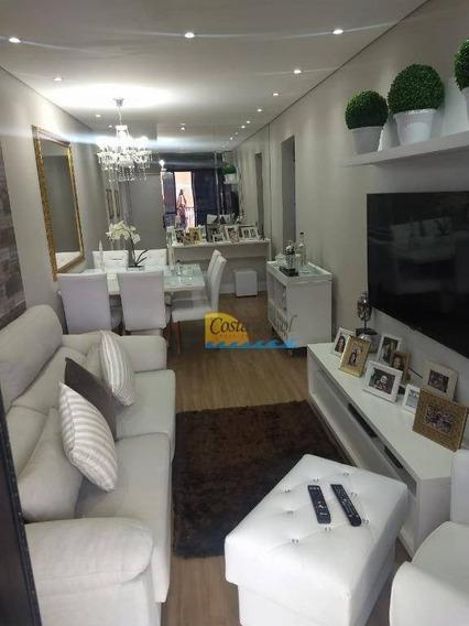 Apartamento Com 2 Dormitórios À Venda, 100 M² Por R$ 415.000,00 - Vila Belmiro - Santos/sp - Ap15274