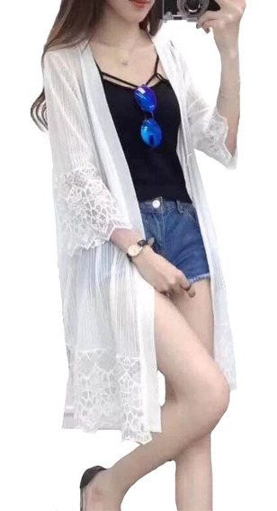 Kimono Cardigan Aberto Bata Saida De Paria Calor Verão Lindo