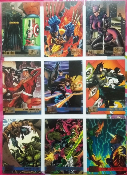 Marvel Vs Dc 18 T. Cards Battles Batman Nightwing Wolverine