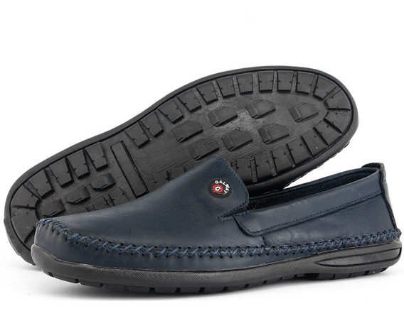 Sapato Sapatilha Sider Masculino Couro Antistress Super Leve