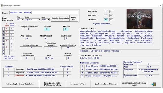 Numerologia Cabalística Software - Salva Arquivo Txt