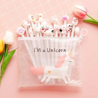 Set 20 Lápices Diferentes Diseño Con Estuche Unicornio