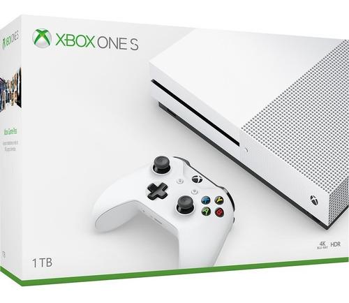 Consola Xbox One S 1tb Blanca Para Videojuegos