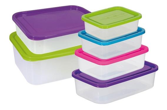 Set X 10 Recipientes Potes Herméticos Plásticos Cocina