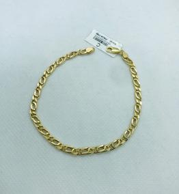 Esclava Oro Semihueca Especial 14k Italiana 3.9 Grs
