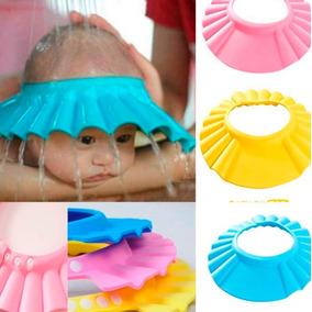 Chapéu Protetor Viseira De Banho Lava Cabeça Bebês Crianças