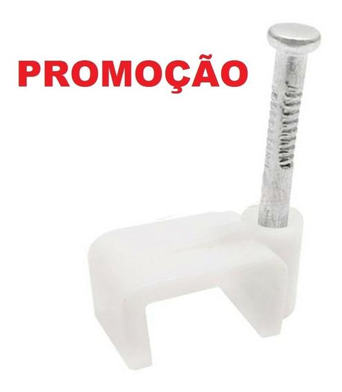 Kit 1000 Unid Miguelão 6mm Fixafio Retangular Rg59 Drop Flat
