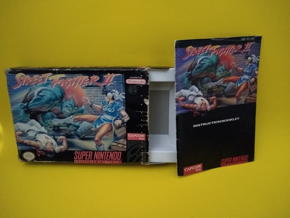Street Fighter 2 Snes Caixa E Manual Somente