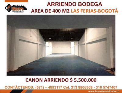 *arriendo Bodega Las Ferias 400 M2