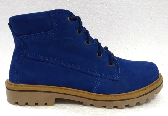 Bota Bella Boots 0701 Azul/nobuck