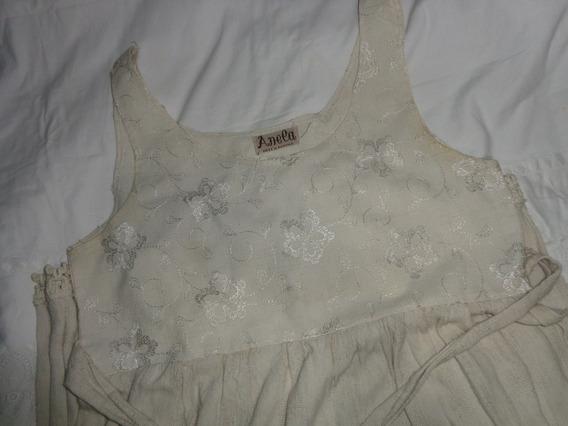 Vestido De Lino Largo