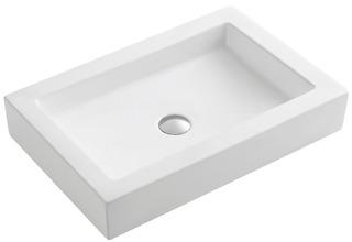 Bacha De Apoyo De Porcelana Blanca 60x40 Blade