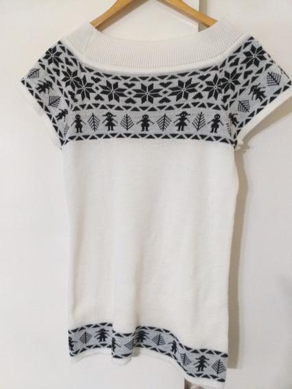 Sweater Lana Mujer Mediun Liviano Mangas Cortas