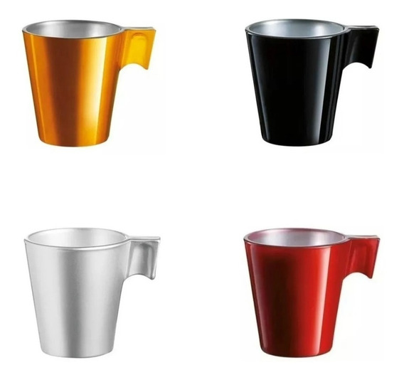 Taza Cafe Luminarc Flashy Expresso Varios Colores 80 Ml