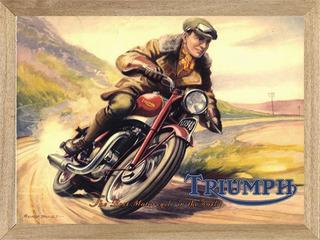 Triumph Moto Poster, Enmarcado Cuadro Cartel L216