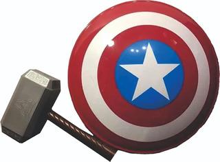 Escudo Capitán América + Martillo Thor. Dinos