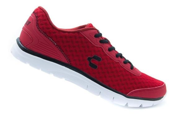 Tenis Deportivos Comodos Charly 1029149 Rojo 100% Originales