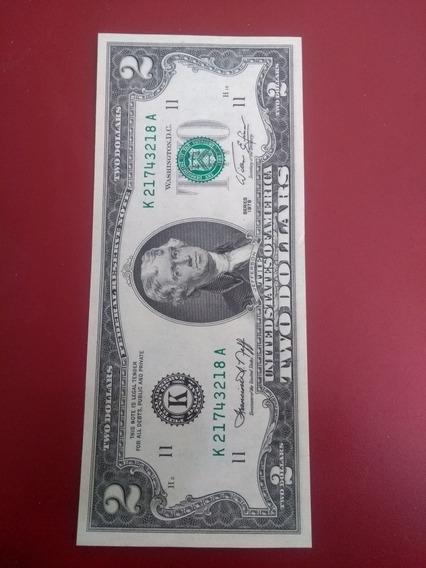 Billete De 2 Dólares Año 1976 Colección