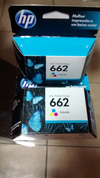 Cartucho De Tinta Hp 662 Colors Novo.