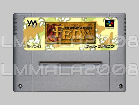 Original Feda Emblem Of Justice Inglês Snes Super Nintendo